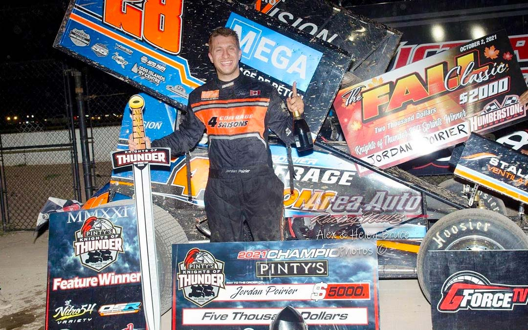 Humberstone Speedway Hosts Fall Classic; Jordan Poirier wins Knights of Thunder Series Title with Weekend Sweep